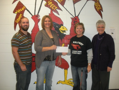 Donation to Halfway School in 2012